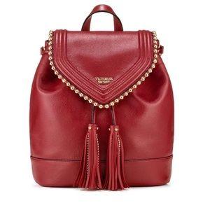 NWOT | VS Gold Ball Stud Tassel Flap Backpack
